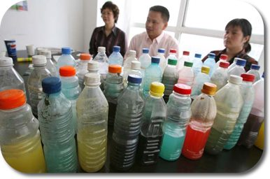 Water from Chinese rivers